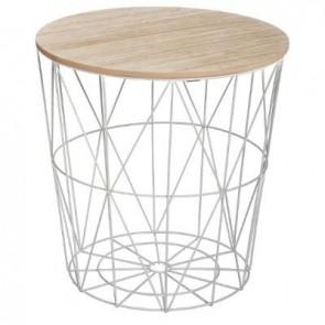TABLE CAFE MET GRIS KUMI MM
