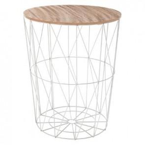 mesa de centro gris metal kumi