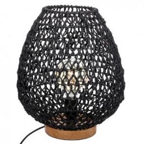 Lámpara de metal + papel negro