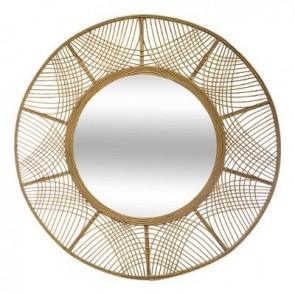 Espejo de bambú Diametro 89 cm