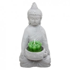 Tealight Buddha Cement H. 14.5