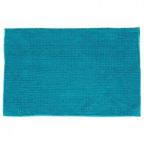 TAPIS CHENILLE COURT TURQUOISE