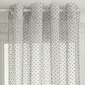 Lucia Grey Sheer 140 x 260