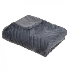 PLAID 3D GEO GRIS 120X160