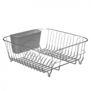Escurreplatos metal + PVC gris
