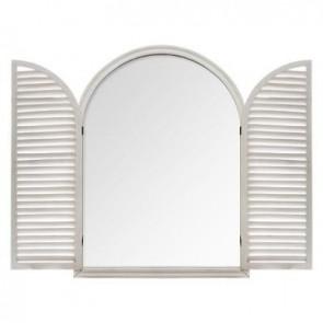 Espejo de persiana de madera b