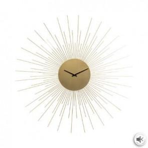 reloj metálico sol dorado