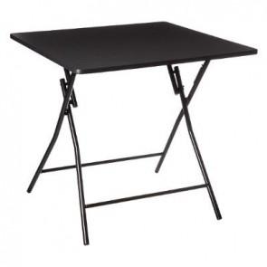Mesa Plegable 80X80cm Negro