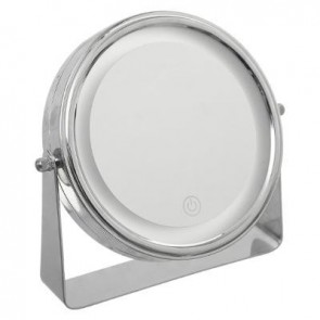 Espejo LED Cromado con Pie
