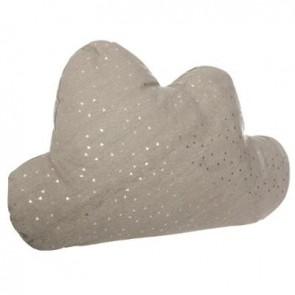 COUSSIN NUAGE  ZIP DECO TAUPE
